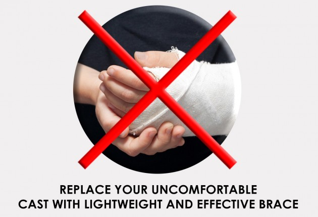Replace your uncomfortable cast with lightweight and effective brace